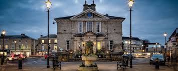 Wetherby Town hall at dusk